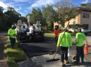 Sparks Concrete working on Deland Avenue
