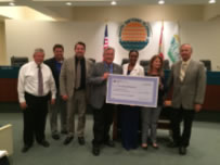 Council accepting Grant Check from SJRWMD