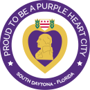 Purple Heart Medal - Prouth to be a Purple Heart City - South Daytona, Florida